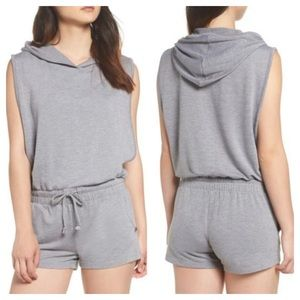 Joe's Jeans Gray Hooded Romper Jumpsuit NWT $48